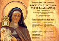Proslava blagdana sv. Klare