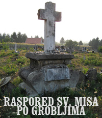 Raspored svetih misa po grobljima