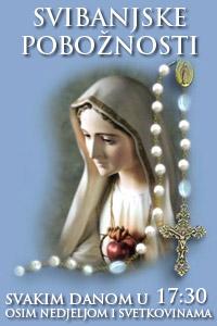 Svibanjske pobožnosti - svaki dan u 17:30 sati osim nedjeljama i svetkovinama
