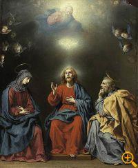 Carlo Dolci - Sveta obitelj s Bogom Ocem i Svetim Duhom